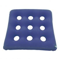 乐惠九孔方形防褥疮充气坐垫 老人绒面透气轮椅坐垫 居家办公椅垫